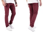 Wrangler Larston Cordovan Red Slim Tapered 33 X 34 Trousers W33 L34