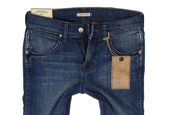 WRANGLER CAITLIN JEANS women's trousers slim straight WORN ROGUE 25/34 W25 L34