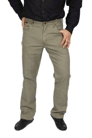 WRANGLER TEXAS 35 X 32 men's trousers classic material DUSTY OLIVE W35 L32