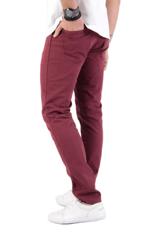 Wrangler Larston Cordovan Red Slim Tapered Trousers 31x32 W31 L32