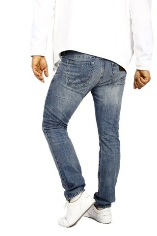 Wrangler Larston Ripped Selvedge 30 X 34 Slim Tapered Jeans Hipsters W30 L34