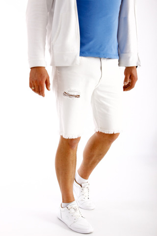 Wrangler Regular Shorts White Ripped W31 W15U-ES-033 31 x 00