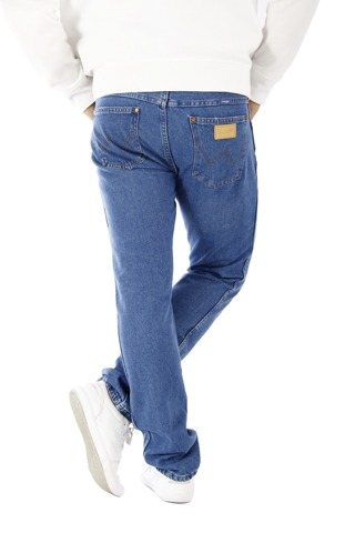 Wrangler Slim Tapered B&Y Flag Blue Jeans 30 X 30 Slim Hipsters W30 L30