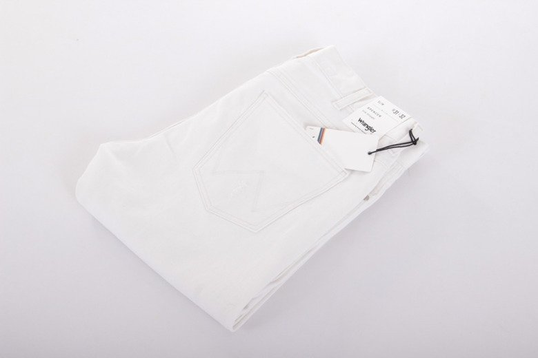 Wrangler Jeans Spencer White Ripped men's trousers Slim 33 X 32 W 33 L 32