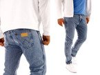 Wrangler Regular Tapered B&Y Speedy Blue Jeans W32 L30