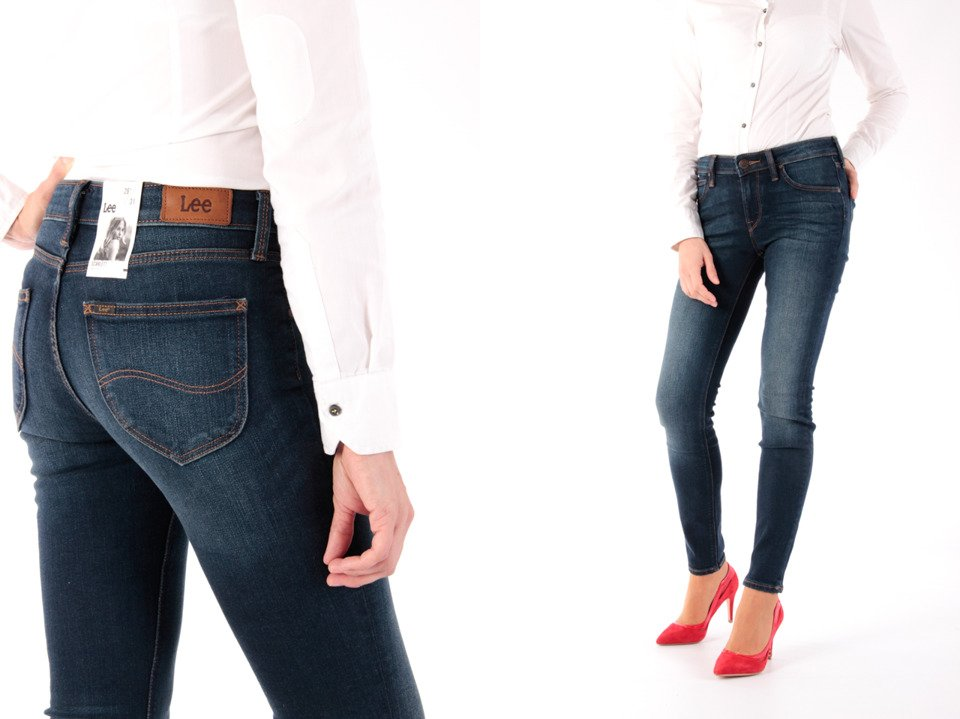 6ca1349292c015 Lee Scarlett Mean Streaks Skinny Jeansy Damskie W25 L31 | Spodnie ...