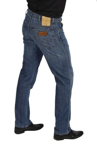 WRANGLER TEXAS STRETCH jeansy LINEN USED W33 L34